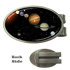 Outer Space Planets Solar System Money Clips (oval)  by Sapixe