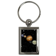 Outer Space Planets Solar System Key Chains (rectangle)  by Sapixe