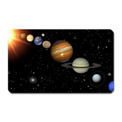 Outer Space Planets Solar System Magnet (rectangular) by Sapixe