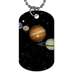 Outer Space Planets Solar System Dog Tag (two Sides) by Sapixe