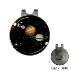 Outer Space Planets Solar System Hat Clips With Golf Markers by Sapixe