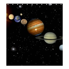 Outer Space Planets Solar System Shower Curtain 66  X 72  (large)  by Sapixe