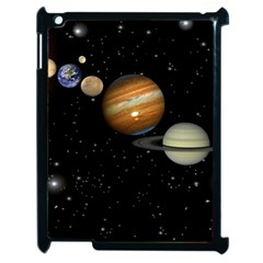 Outer Space Planets Solar System Apple Ipad 2 Case (black) by Sapixe
