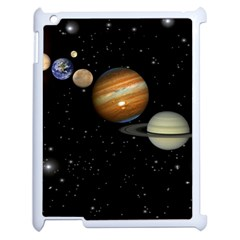 Outer Space Planets Solar System Apple Ipad 2 Case (white) by Sapixe