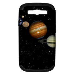 Outer Space Planets Solar System Samsung Galaxy S Iii Hardshell Case (pc+silicone) by Sapixe