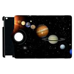 Outer Space Planets Solar System Apple Ipad 2 Flip 360 Case by Sapixe