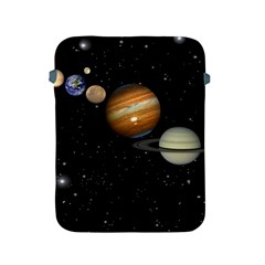 Outer Space Planets Solar System Apple Ipad 2/3/4 Protective Soft Cases by Sapixe