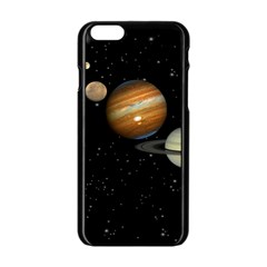 Outer Space Planets Solar System Apple Iphone 6/6s Black Enamel Case by Sapixe
