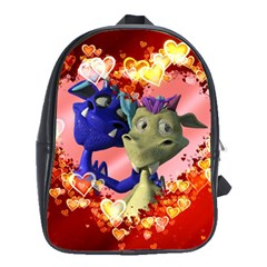 Ove Hearts Cute Valentine Dragon School Bag (large)