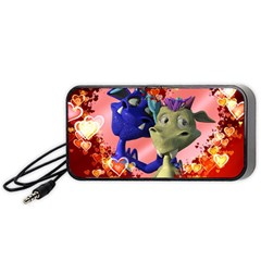 Ove Hearts Cute Valentine Dragon Portable Speaker by Sapixe