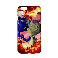 Ove Hearts Cute Valentine Dragon Apple Iphone 6/6s Hardshell Case by Sapixe