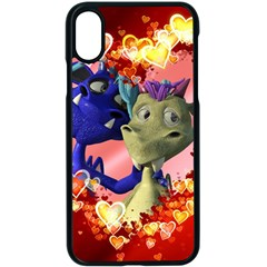 Ove Hearts Cute Valentine Dragon Apple Iphone X Seamless Case (black)