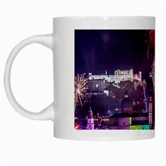 New Year New Year's Eve In Salzburg Austria Holiday Celebration Fireworks White Mugs
