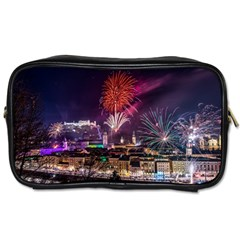 New Year New Year's Eve In Salzburg Austria Holiday Celebration Fireworks Toiletries Bags 2 Side by Sapixe