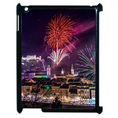 New Year New Year's Eve In Salzburg Austria Holiday Celebration Fireworks Apple Ipad 2 Case (black) by Sapixe