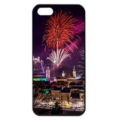 New Year New Year's Eve In Salzburg Austria Holiday Celebration Fireworks Apple Iphone 5 Seamless Case (black) by Sapixe