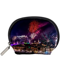New Year New Year's Eve In Salzburg Austria Holiday Celebration Fireworks Accessory Pouches (small)  by Sapixe