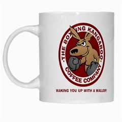 Boxing Kangaroo Coffee Company Mug White Coffee Mug by theianfox