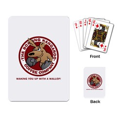 Boxing Kangaroo Coffee Company Playing Cards Playing Cards Single Design by theianfox