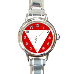 Roundel Of Austrian Air Force  Round Italian Charm Watch