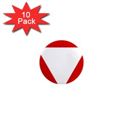 Roundel Of Austrian Air Force  1  Mini Magnet (10 Pack)