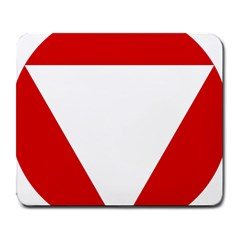 Roundel Of Austrian Air Force  Large Mousepads