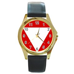 Roundel Of Austrian Air Force  Round Gold Metal Watch