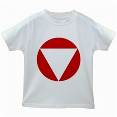 Roundel Of Austrian Air Force  Kids White T Shirts