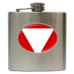 Roundel Of Austrian Air Force  Hip Flask (6 Oz)