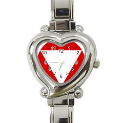 Roundel Of Austrian Air Force  Heart Italian Charm Watch