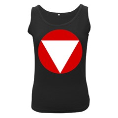 Roundel Of Austrian Air Force  Women s Black Tank Top