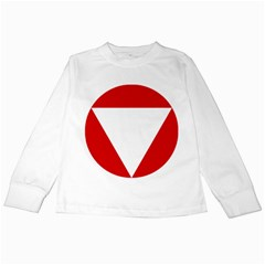 Roundel Of Austrian Air Force  Kids Long Sleeve T Shirts