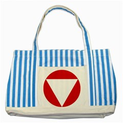 Roundel Of Austrian Air Force  Striped Blue Tote Bag