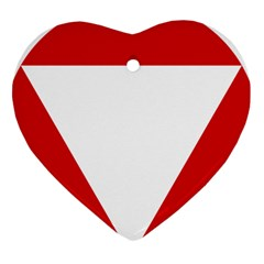 Roundel Of Austrian Air Force  Heart Ornament (two Sides)