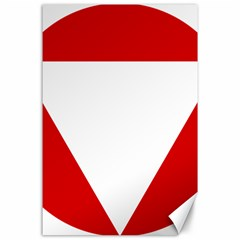 Roundel Of Austrian Air Force  Canvas 24  X 36