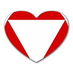 Roundel Of Austrian Air Force  Heart Mousepads