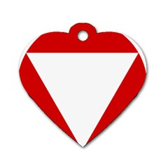 Roundel Of Austrian Air Force  Dog Tag Heart (two Sides)