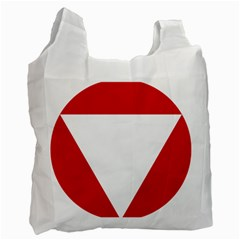 Roundel Of Austrian Air Force  Recycle Bag (one Side)