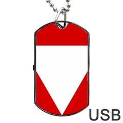 Roundel Of Austrian Air Force  Dog Tag Usb Flash (two Sides)