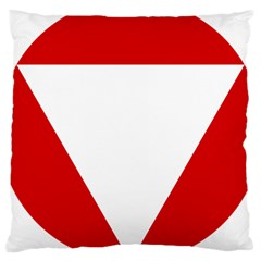 Roundel Of Austrian Air Force  Large Cushion Case (one Side)