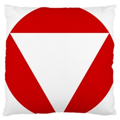 Roundel Of Austrian Air Force  Large Flano Cushion Case (one Side)