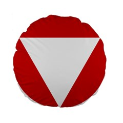 Roundel Of Austrian Air Force  Standard 15  Premium Flano Round Cushions