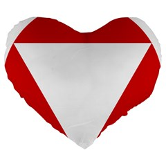 Roundel Of Austrian Air Force  Large 19  Premium Flano Heart Shape Cushions