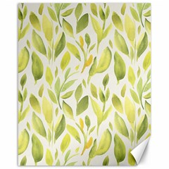 Green Leaves Nature Patter Canvas 16  X 20