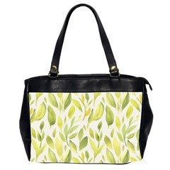 Green Leaves Nature Patter Office Handbags (2 Sides)  by paulaoliveiradesign
