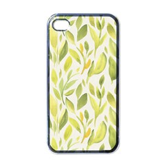 Green Leaves Nature Patter Apple Iphone 4 Case (black) by paulaoliveiradesign