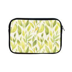 Green Leaves Nature Patter Apple Ipad Mini Zipper Cases by paulaoliveiradesign