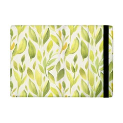 Green Leaves Nature Patter Ipad Mini 2 Flip Cases by paulaoliveiradesign