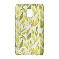 Green Leaves Nature Patter Galaxy Note Edge by paulaoliveiradesign