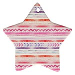 Watercolor Tribal Pattern Ornament (Star) Front
